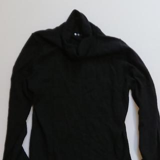 スリードッツ(three dots)のスリードッツ カシミヤ 黒 フリーサイズ(ニット/セーター)