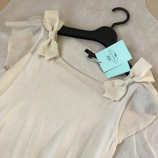 トッカ(TOCCA)の新品♡トッカ♡リボン半袖カットソー(カットソー(半袖/袖なし))