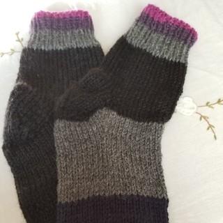 手編み靴下(レッグウェア)
