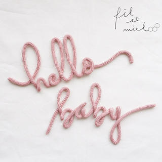 ウールレター hello baby(インテリア雑貨)