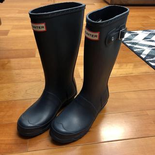 ハンター(HUNTER)のハンター♡長靴レインブーツ ネイビー 21.5センチ(長靴/レインシューズ)