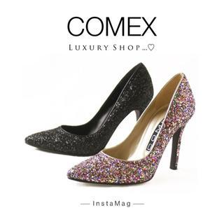 コメックス(COMEX)の♡新品同様♡COMEX♡美脚♡グリッターラメ♡ハイヒール♡ (ハイヒール/パンプス)