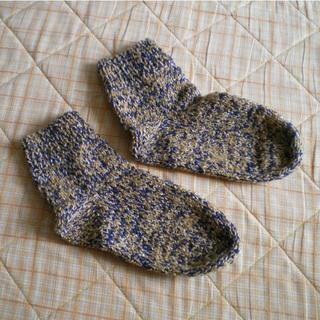 手編み 靴下・男性用(レッグウェア)