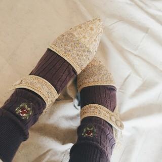エフトゥループ(F-TROUPE)のembroidery shoes(ハイヒール/パンプス)