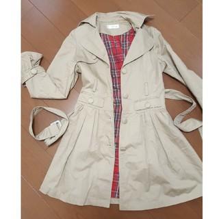 ジャニスマーケット(janis market)のjanismarket☆チェックコート☆ドレス☆くるみボタン☆難有格安(ロングコート)