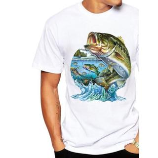 送料無料!バス柄 ホワイトTシャツ半そで新品 XLサイズ #2(ウエア)