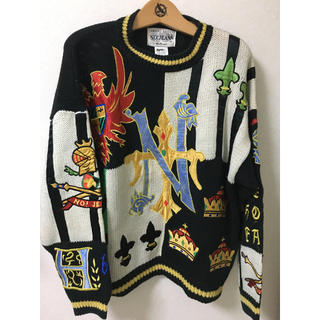 クージー(COOGI)のno!jeans セーター ニット 奇抜柄  80s 90s(ニット/セーター)