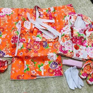 七五三 女の子 3歳 被布コートセット(和服/着物)
