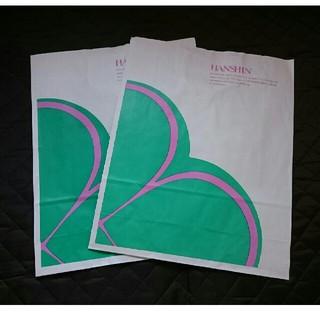 ハンシンヒャッカテン(阪神百貨店)の阪神百貨店 紙袋  2枚 ショッパー 大(ショップ袋)