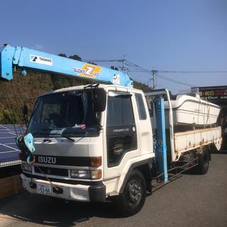 20フィートの船と4tクレーン付きトラック(トラック・バス用品)