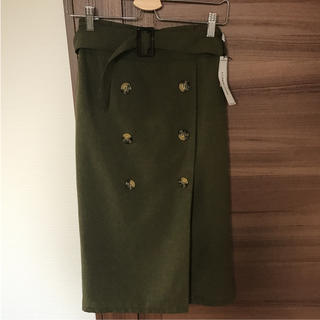 シマムラ(しまむら)の新品 トレンチスカート(ひざ丈スカート)
