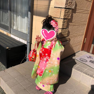 3歳 七五三 被布セット 正絹(和服/着物)