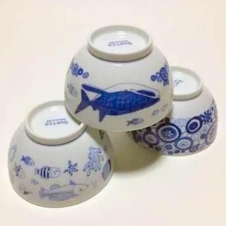 ハサミ(HASAMI)の値下げ 波佐見焼 cocomarine お茶碗 3柄セット 新品送料込(食器)