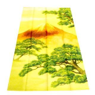 送料無料【新品 】日本製 金糸 のれん【 金富士】丈150cm(のれん)