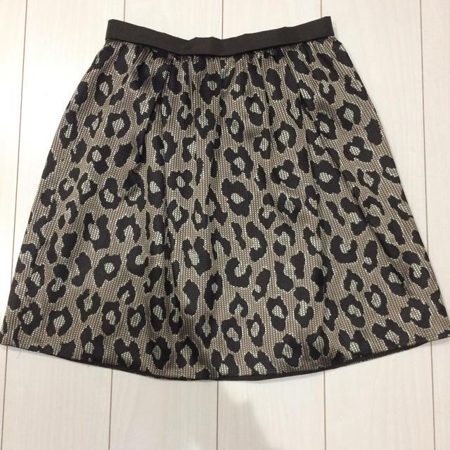 Demi-Luxe BEAMS(デミルクスビームス)のビームス レオパード スカート レディースのスカート(ひざ丈スカート)の商品写真