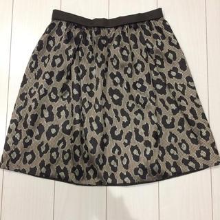 デミルクスビームス(Demi-Luxe BEAMS)のビームス レオパード スカート(ひざ丈スカート)