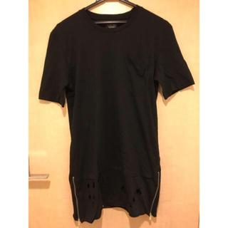 ザラ(ZARA)のロング丈 レイヤード Tシャツ(Tシャツ/カットソー(半袖/袖なし))