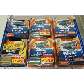 ジレ(gilet)のGillette  ジレット フュージョン シリーズ 替刃 まとめ売り(メンズシェーバー)