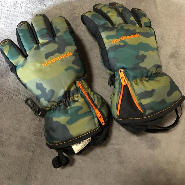 mont bell(モンベル)のスキー用手袋 キッズ 110サイズ 迷彩柄 送料込!値下げしました! スポーツ/アウトドアのスノーボード(ウエア/装備)の商品写真