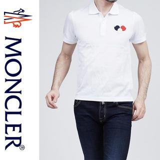 モンクレール(MONCLER)の3MONCLER 17ss 半袖 ポロシャツ ホワイト size L(ポロシャツ)