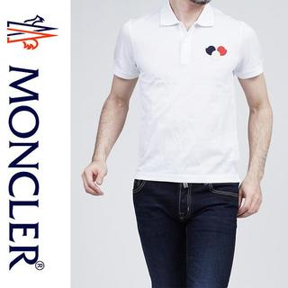 モンクレール(MONCLER)の3MONCLER 17ss 半袖 ポロシャツ ホワイト size XL(ポロシャツ)