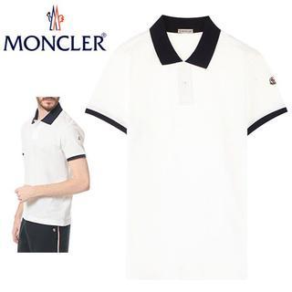 モンクレール(MONCLER)の27MONCLER17ss 半袖 襟裏ロゴ ポロシャツ ホワイト size L(ポロシャツ)
