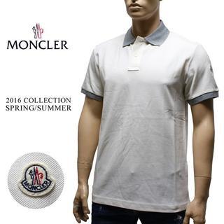モンクレール(MONCLER)の16MONCLER 16ss 半袖 襟裏ロゴ ポロシャツ ホワイト sizeXL(ポロシャツ)