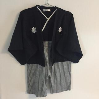 袴ロンパース(90)(和服/着物)