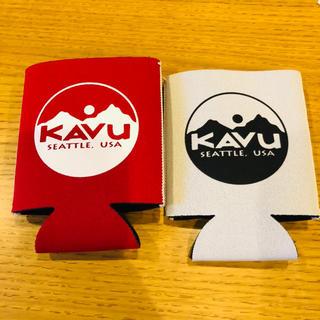 カブー(KAVU)の美品◆KAVU カブー カップホルダー 赤&グレー(その他)