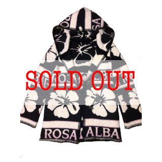 アルバローザ(ALBA ROSA)の【ALBA ROSA(アルバローザ)】升目 コート 白黒 レア(ダッフルコート)