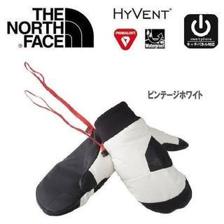 ザノースフェイス(THE NORTH FACE)のTHE NORTH FACE ノースフェイス フェイキーミット ホワイト L(ウインタースポーツ)