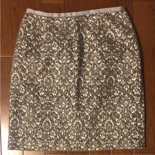 ドゥアルシーヴ(Doux archives)のドゥアルシーヴ◆ウール台形スカート◆グレー(ひざ丈スカート)