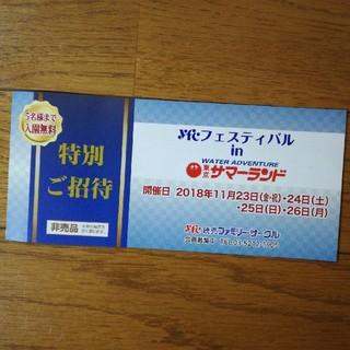 東京サマーランド特別ご招待券(プール)