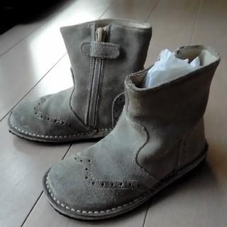 エーキャンビー(A CAN B)の美品 エーキャンビー ブーツ イタリア製 グレー スエード 14cm(ブーツ)