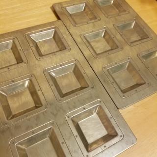 チヨダ(Chiyoda)の千代田金属 2枚セット キャレ型(調理道具/製菓道具)
