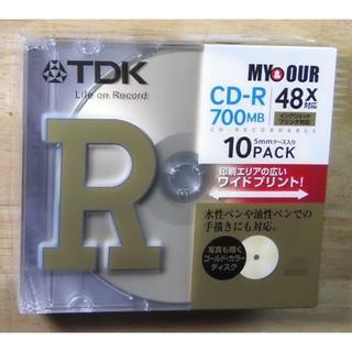 ティーディーケイ(TDK)のTDK CD-Rデータ用700MB 48倍速 5mm厚ケース入り【未開封品】(その他)