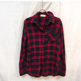 ジェットレーベル(JET LABEL)のJet Label ジェットレーベル 2wayネルチェックシャツ レッド 美品(シャツ/ブラウス(長袖/七分))