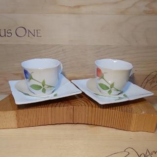 コウランシャ(香蘭社)の香蘭社 ペア碗皿 ノーブルローズ 箱あり(食器)