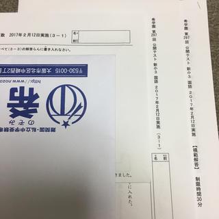 ハマックス(hamax)の希学園 公開テスト 3年生 2月実施分(参考書)