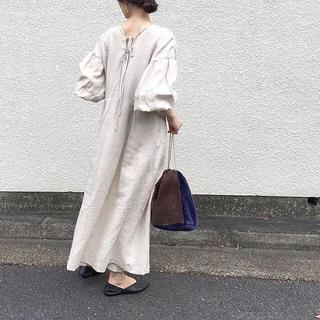 クレイミー(Crayme,)の✴︎ linen onepiece moirelaxing(ロングワンピース/マキシワンピース)