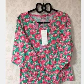 セシール(cecile)の新品タグ付 )ドルマンスリーブ 長袖Tシャツ M〜LL(Tシャツ(長袖/七分))