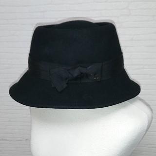 ランバンオンブルー(LANVIN en Bleu)の値下げ!新品未使用 ランバンオンブルーLANVIN en Blue ハット帽子(ハット)