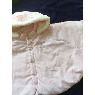 セレク(CELEC)のセレク ポンチョ アウター 女の子 ピンク 60 70 80 90 コート 美品(ジャケット/コート)
