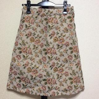 カラー(Color)のフラワーゴブランスカート♡(ひざ丈スカート)