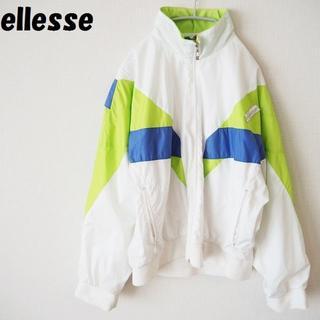 【90's】エレッセ マルチカラーナイロンジャケット サイズM レディース