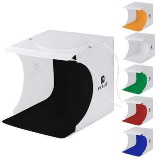 撮影ボックス LEDライト40PCS 6色付き(ストロボ/照明)