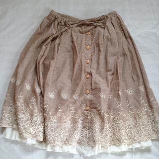 MOUTH vally ふんわりスカート(ひざ丈スカート)