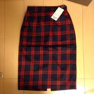 レイカズン(RayCassin)の新品未使用☆チェックタイトスカート(ひざ丈スカート)