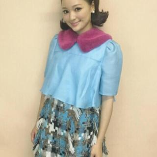 チェスティ(Chesty)の新品 チェスティ  chay ちゃん着用 ツイードスカート ライトブルー 1(ミニスカート)