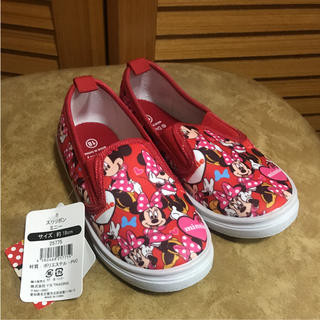 ディズニー(Disney)の新品 ミニーちゃん スリッポン 18㎝(スリッポン)